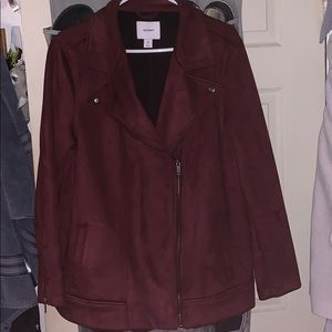 Old Navy 2x plus Sueded Knit Moto Jacket